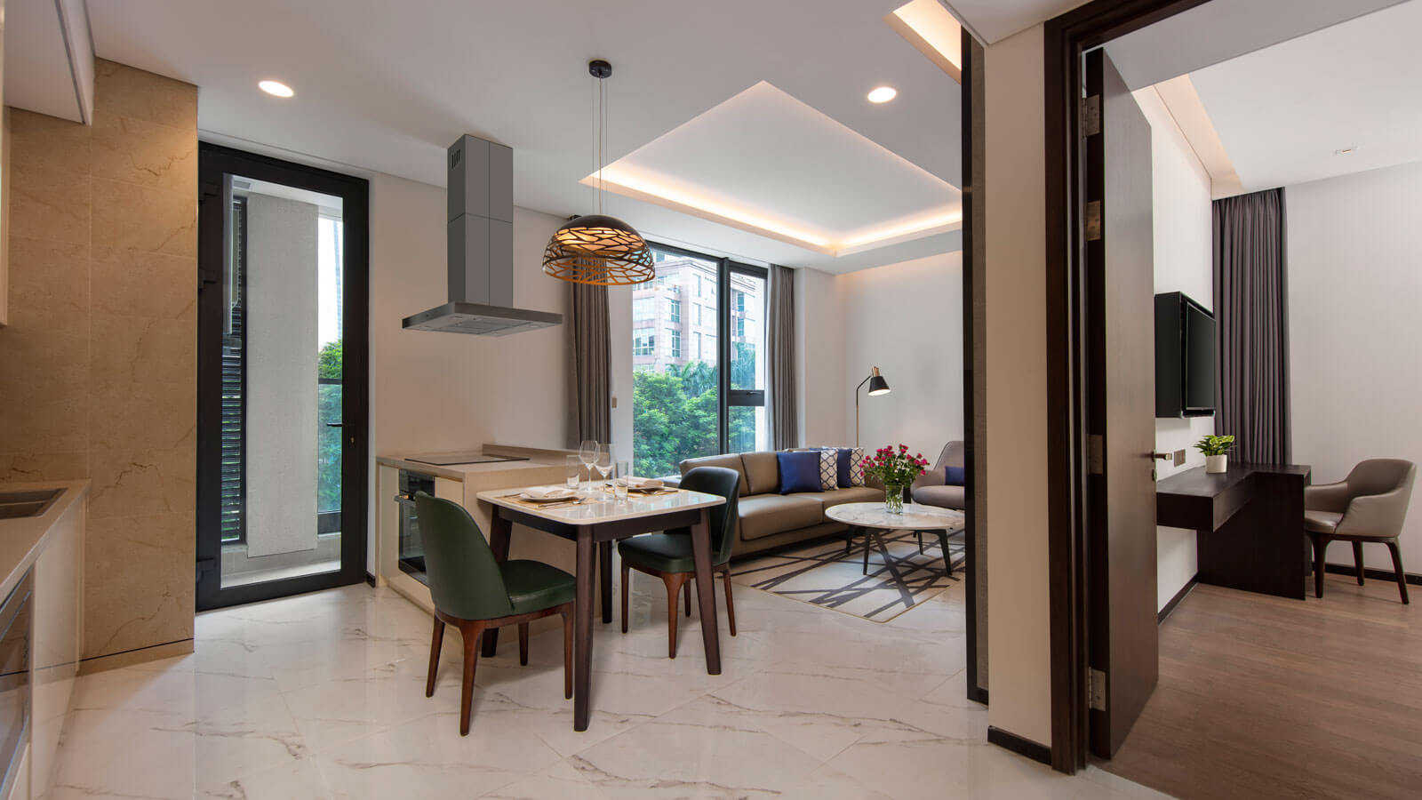 One Bedroom Deluxe - Dining and Living Area