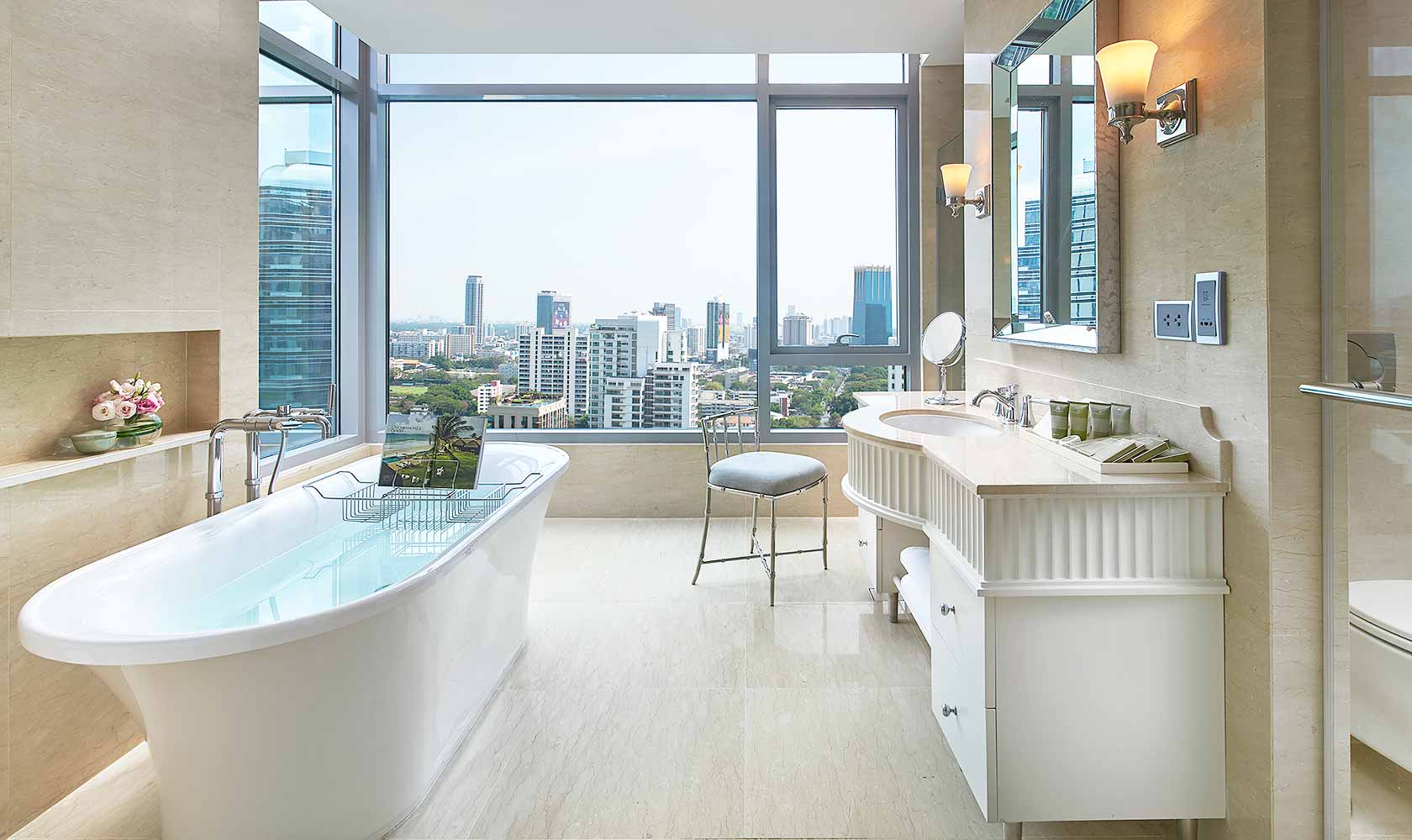 Master bathroom in Two Bedroom Suite - Oriental Residence Bangkok
